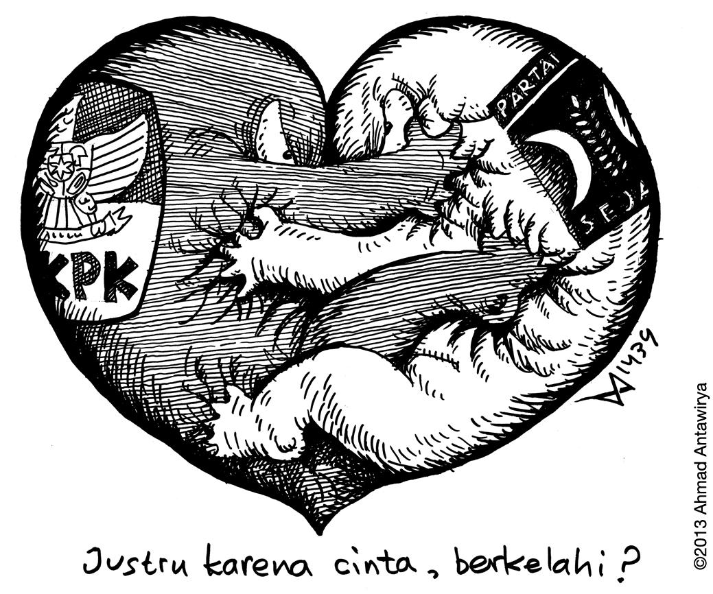 Duel Cinta Kartun Ahmad Antawirya